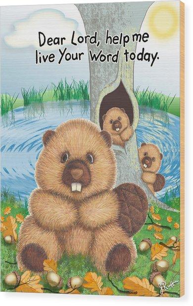 Beaver Wood Print