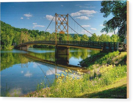 Beaver Town Bridge Wood Print by Jerry Williamson