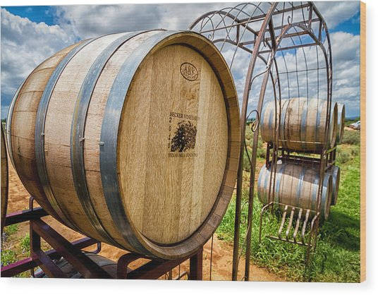 Becker Vineyards Wood Print