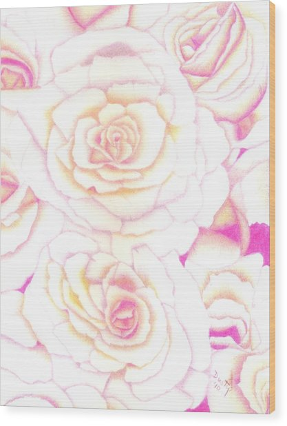 Bed Of Roses Wood Print by Dusty Reed