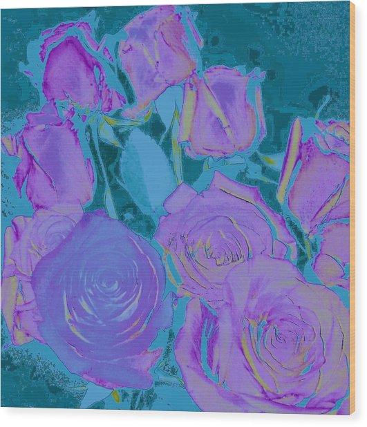 Bed Of Roses II Wood Print