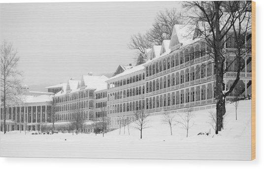 Bedford Springs Northern Colonnades  Wood Print