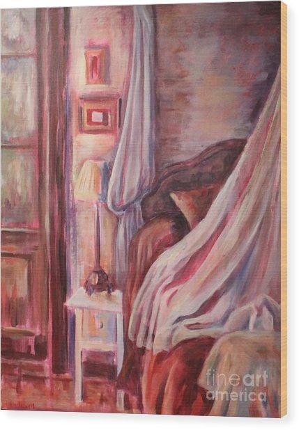 Bedside Lamp Wood Print by Ellen Howell