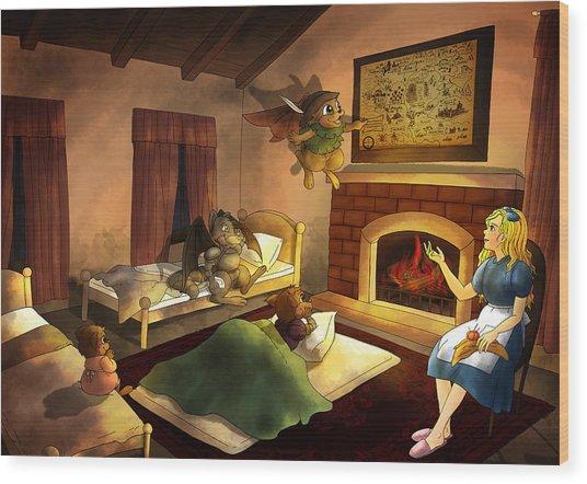 Bedtime Wood Print