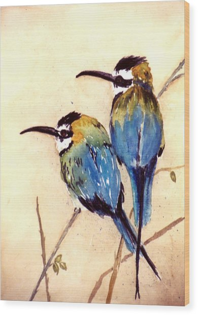 Bee Catchers Wood Print