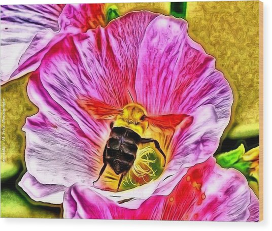Bee Here In Colour Wood Print by Al Fritz