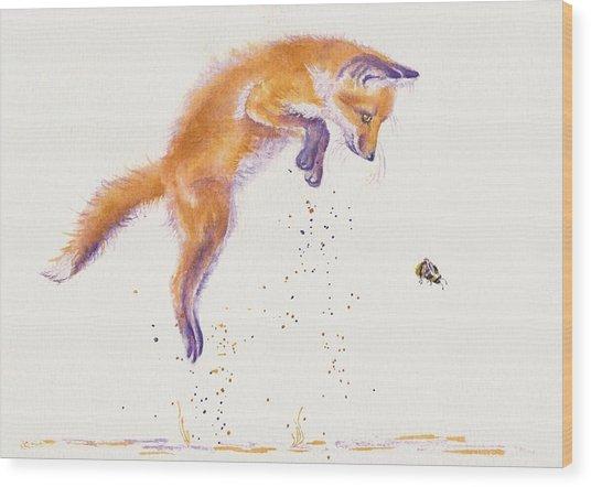 Bee Naive Wood Print