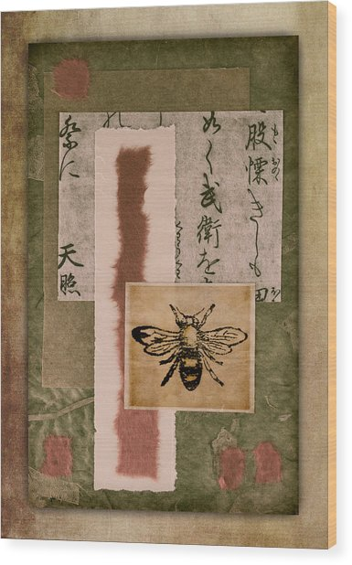 Bee Papers Wood Print