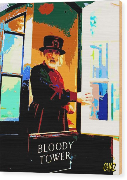 Beefeater Wood Print