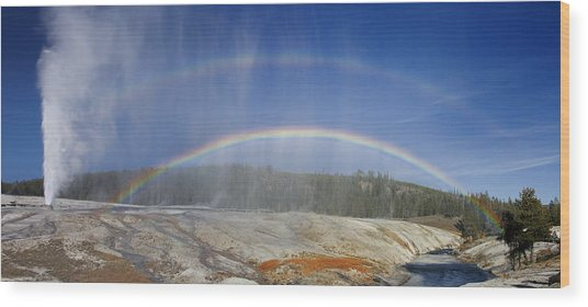 Beehive's Double  Rainbow Wood Print