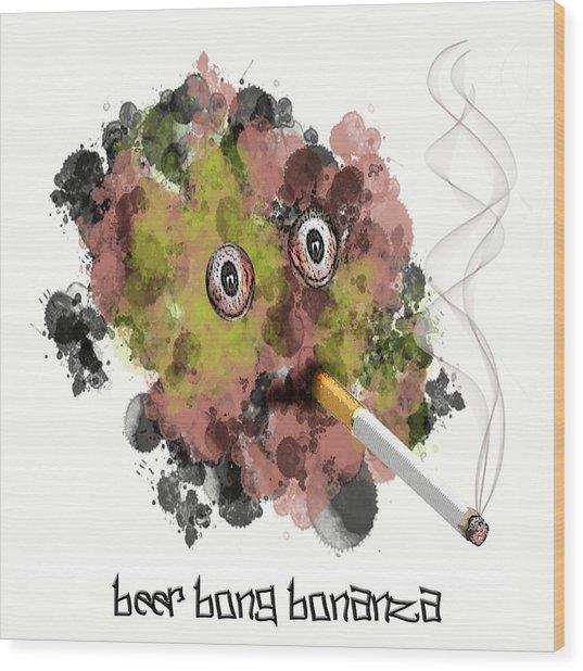 Beer Bong Bonanza Wood Print