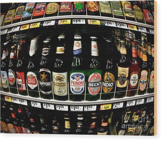 Beer Of Choice II - No.9188 Wood Print