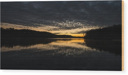 Before Sunrise At The Lake Wood Print