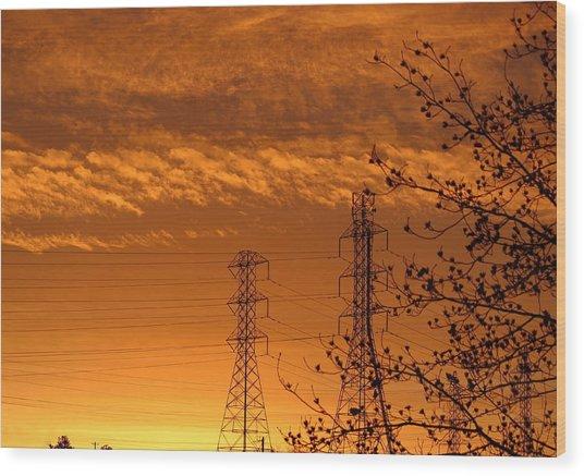 Before The Sunrise Wood Print
