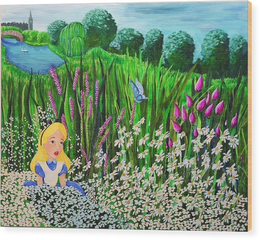Before Wonderland Wood Print by Dennise Heckman