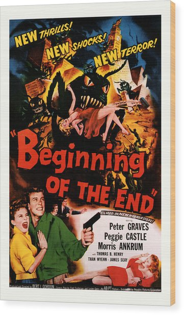Beginning Of The End 1957 Wood Print