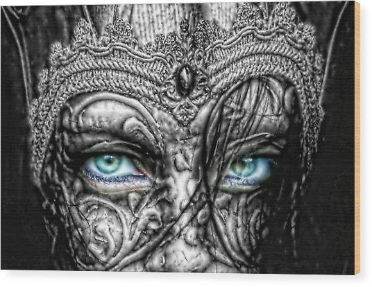 Behind Blue Eyes Wood Print
