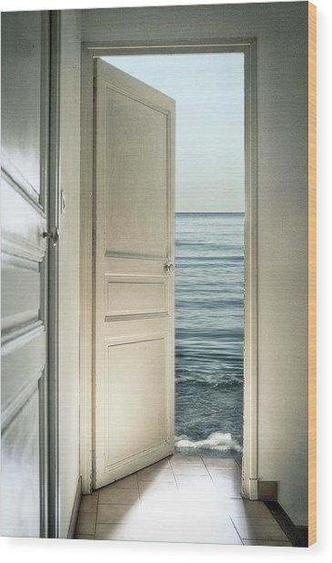 Behind The Door Wood Print