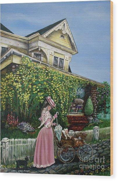Behind The Garden Gate Wood Print