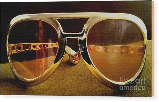 Behind The Glasses Wood Print by Dean Edwards