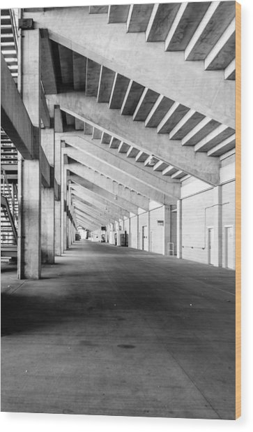 Behind The Grandstand Wood Print