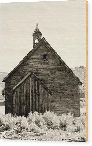 Behind The Steeple By Diana Sainz Wood Print
