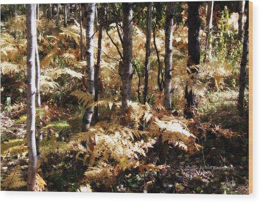 Beige Wood Print