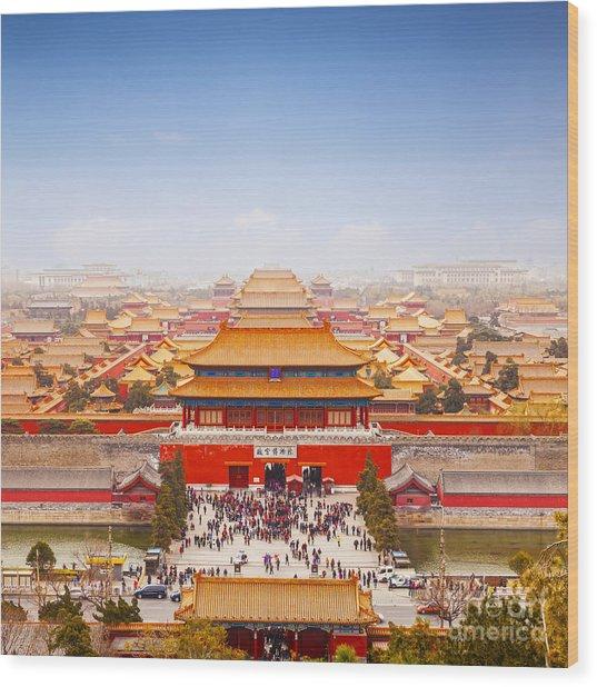 Beijing Forbidden City Skyline Wood Print