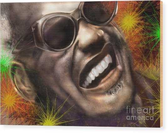 Being Ray Charles1 Wood Print