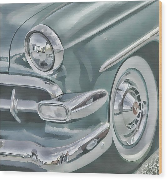 Bel Air Headlight Wood Print