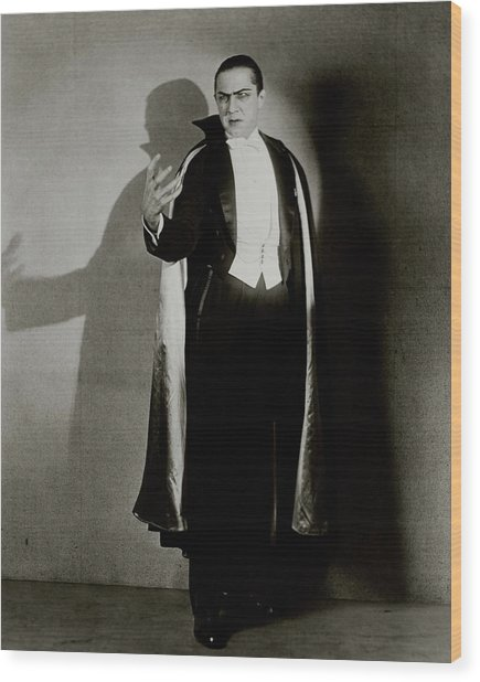 Bela Lugosi As Dracula Wood Print by Florence Vandamm