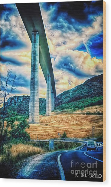 Beleau Millau Viaduct France Wood Print