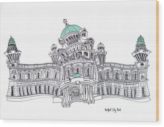 Belfast City Hall Belfast Wood Print by Tanya Mai Johnston