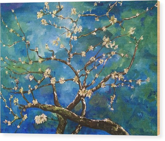 Belinda's Almond Blossoms Wood Print