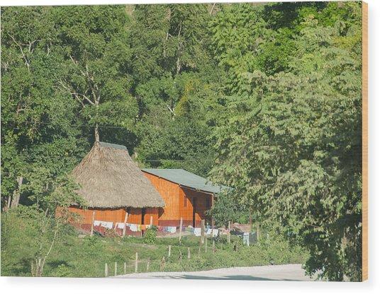 Belize House Wood Print