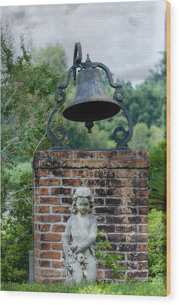 Bell Brick And Statue Wood Print