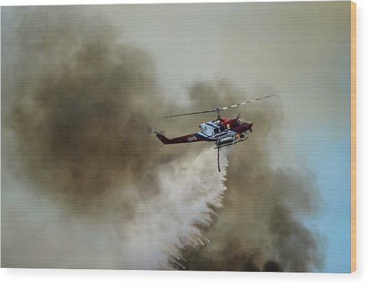 Bell Helicopter 212 Wood Print