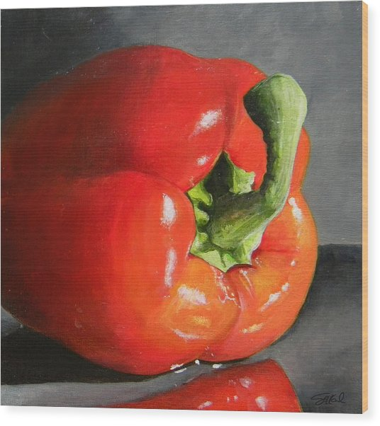 Bell Pepper Mini Wood Print