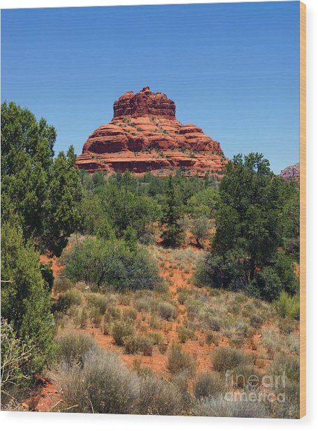 Bell Rock 2 Wood Print by Trish H