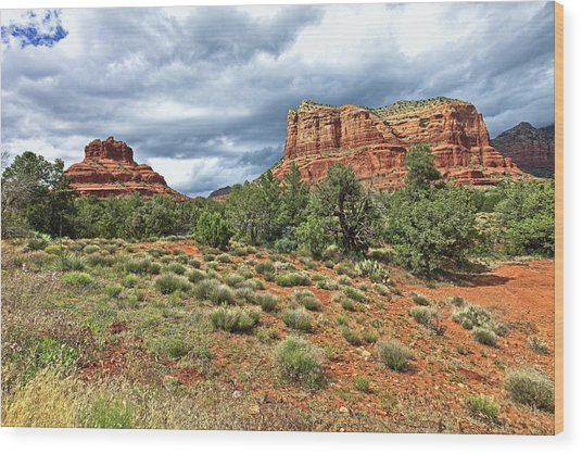 Bell Rock At Sedona Az. Wood Print