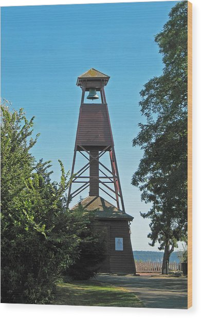 Bell Tower In Port Townsend  Wood Print
