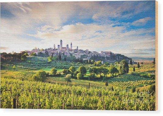 Bella Toscana Wood Print