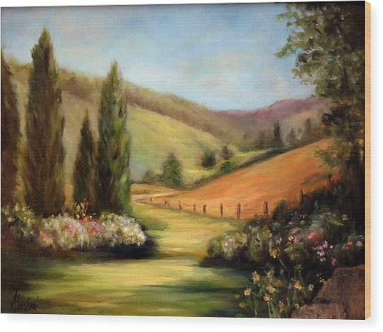 Bella Valle Wood Print