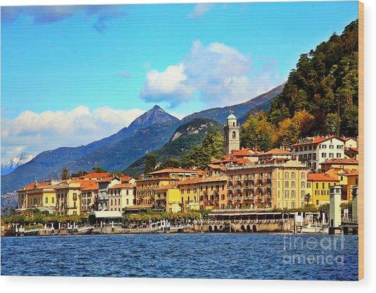 Bellagio On Lake Como Wood Print