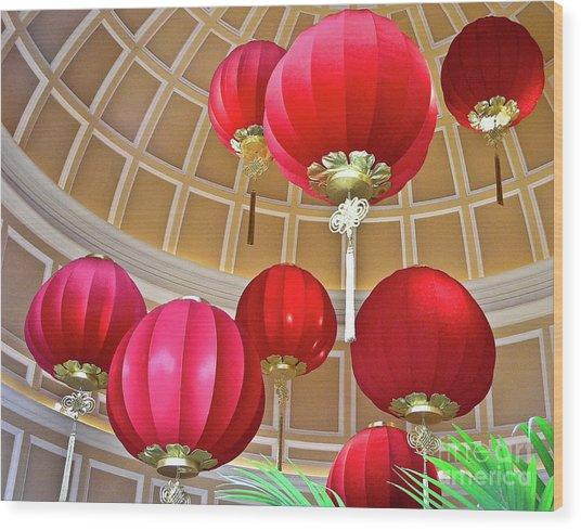 Bellagio Rotunda - Las Vegas Wood Print