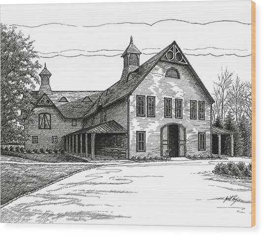 Belle Meade Plantation Carriage House Wood Print