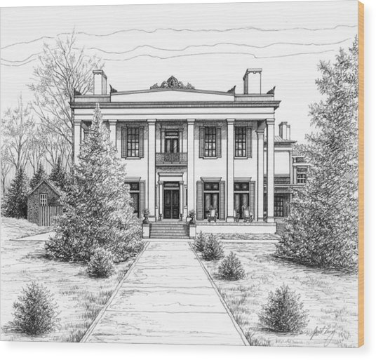 Belle Meade Plantation Wood Print