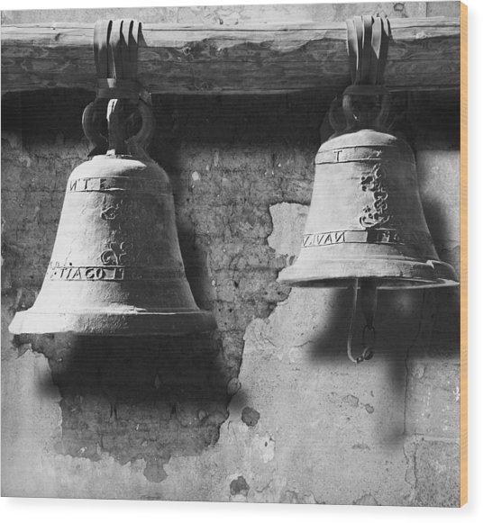 Bells Of San Juan Capistrano Wood Print by Larry Butterworth