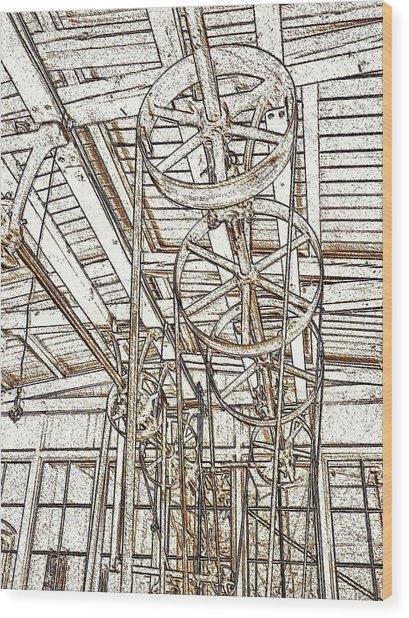 Belt Drive Dm  Wood Print