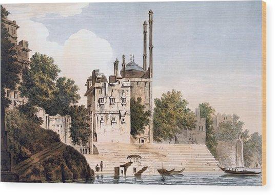Benares On The Ganges Wood Print